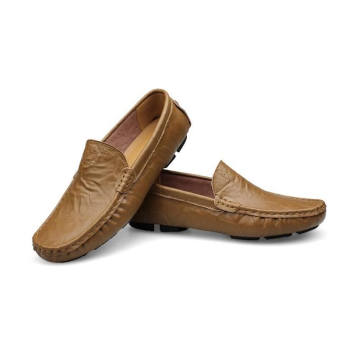 Mocassin Hommes Mode Chaussures Grande Taille Chaussures BJ-XZ73Marron50 a6lSmwcGid