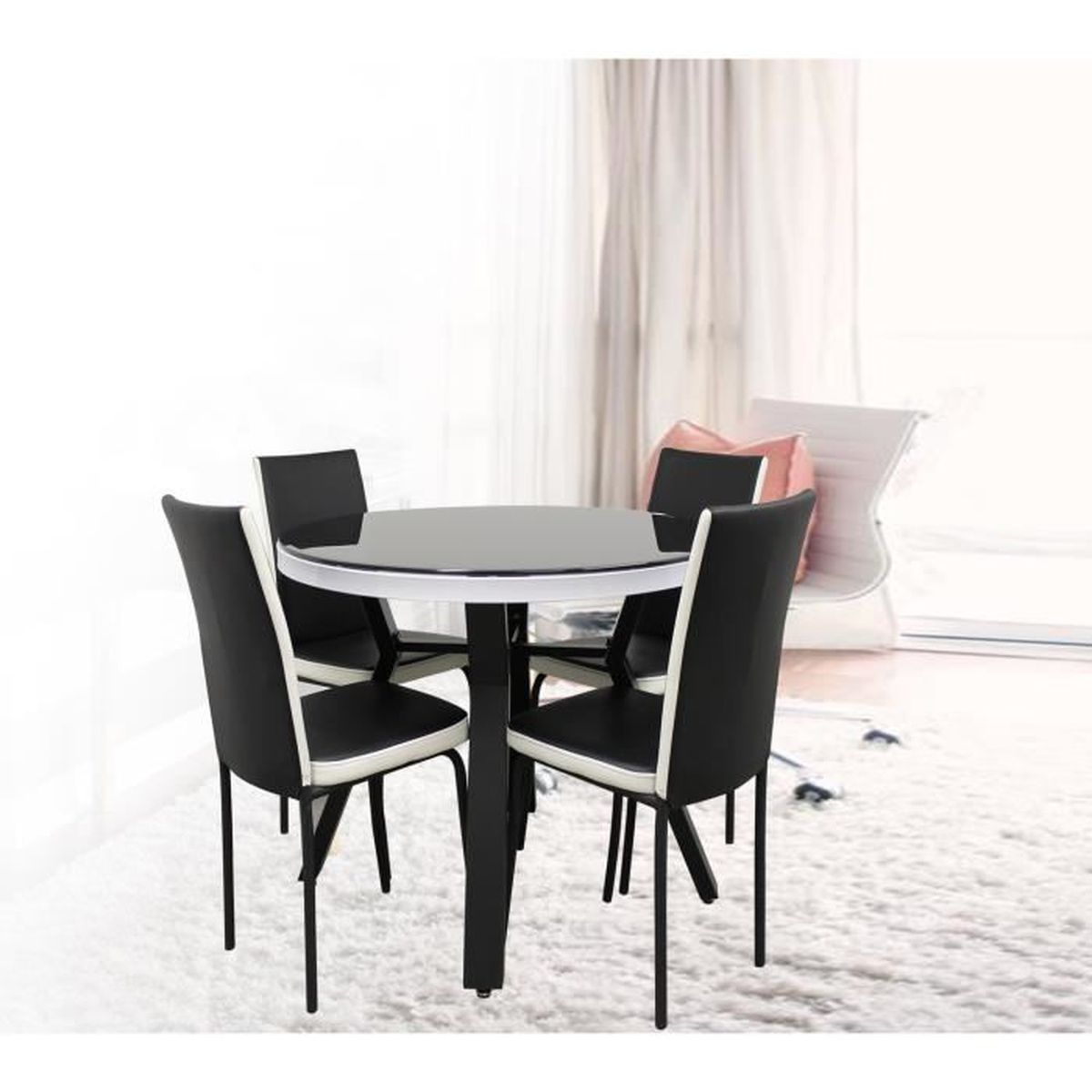 table avec chaise achat vente table de cuisine table avec chaise cdiscount. Black Bedroom Furniture Sets. Home Design Ideas