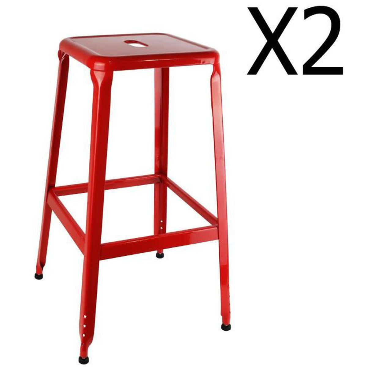 lot de 2 tabouret de bar metal rouge achat vente lot de 2 tabouret de bar metal rouge pas. Black Bedroom Furniture Sets. Home Design Ideas