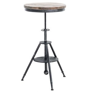 TABOURET DE BAR Table haute bistrot style industriel hauteur régla