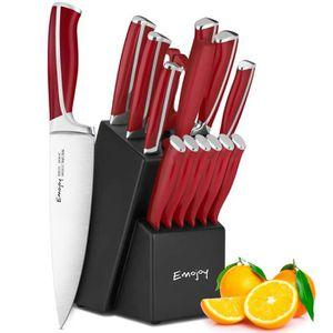 COUTEAU DE CUISINE  Bloc Couteaux de Cuisine, Lot de 15 Couteaux de Lu