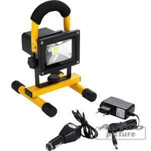 portable 10w cob lampe led avec batterie rechargeable. Black Bedroom Furniture Sets. Home Design Ideas
