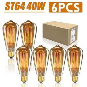 AMPOULE - LED TEMPSA Lot 6Pcs 40W Ampoule LED E27 Edison ST64 Vi