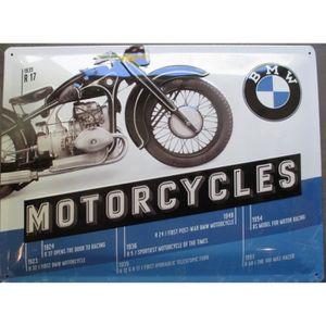 OBJET DÉCORATION MURALE plaque moto bmw 1935 R17 motorcycle tole deco gara