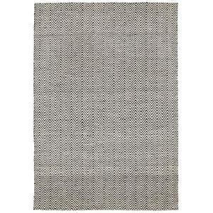 COUVERTURE - PLAID Tapis poil ras Matrix Ives Noir & Blanc 160x230 cm