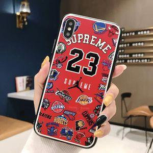 COQUE - BUMPER Coque iPhone 11,Supreme Air Jordan NBA Rouge Coque