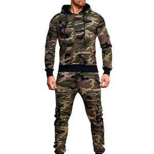 Hommes Vert Camouflage Noir Pullover Plain Sweat à Capuche//Sweat-shirt Active Ranglan armée