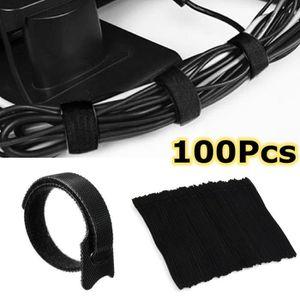 Nylon Auto Verrouillage Réutilisable Câble réseau Tie Zip Fastener 11.5 cm longueur 20pcs