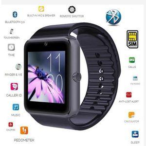 MONTRE CONNECTÉE OOBEST® Bluetooth GT08 Montre-Bracelet Noir Intell