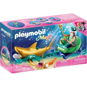 UNIVERS MINIATURE Playmobil Magic 70097 Roi des mers avec calèche ro