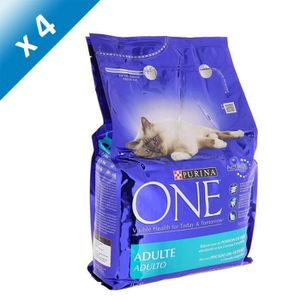 CROQUETTES PURINA ONE Chat Adulte Poisson 3Kg -x4-