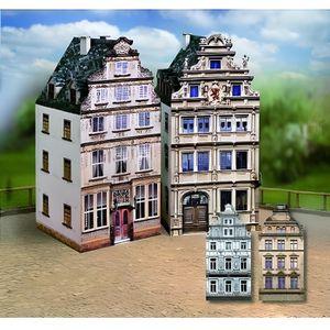 GARAGE - BATIMENT Maquette en carton : Vieilles maisons : Coffret 6