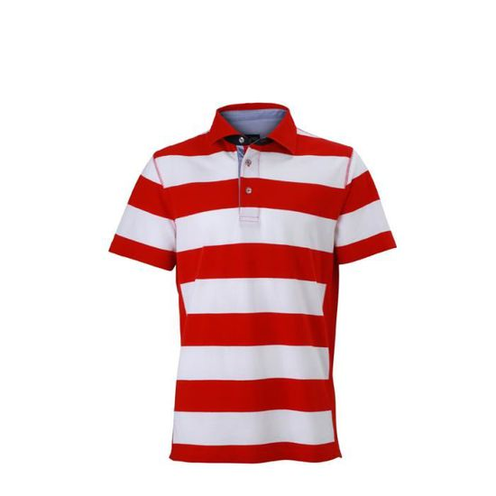 Polo tendance a rayures Rouge/blanc - Achat