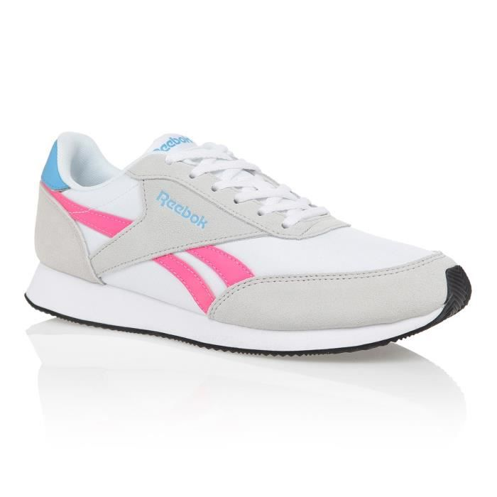 REEBOK Baskets Royal Cl Jog Beige/Rose Femme