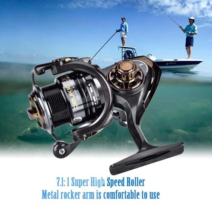 DEUKIO Moulinet à grande vitesse pour la pêche en mer, moulinet à lancer 7.1: 1, pour lancer rapide (HS2000)-KOA