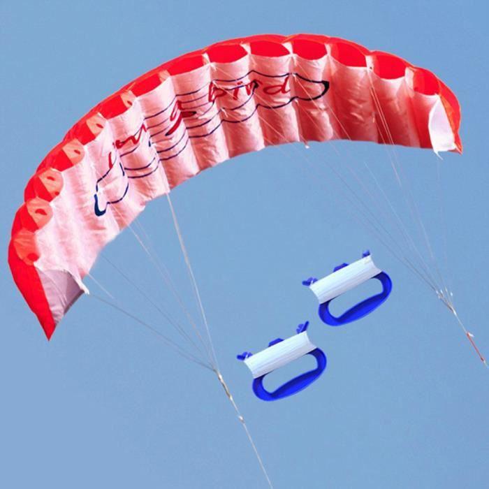 【cerf-volant】Nouveau 1.4m Power Kite Outdoor Fun Toys Parafoil Parachute Dual Line Surfing RD_gt15661