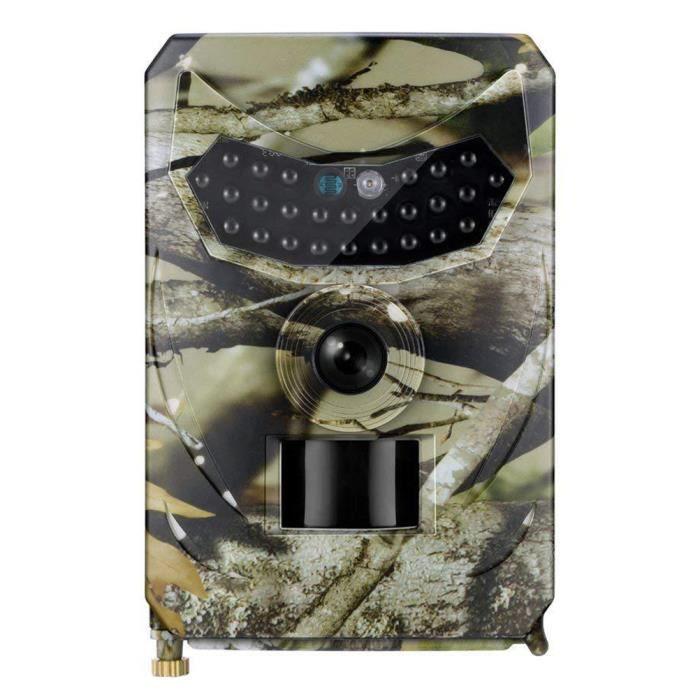 Caméra de jeu de chasse Caméra de suivi 1080P Vision nocturne étanche 12MP sans batterie