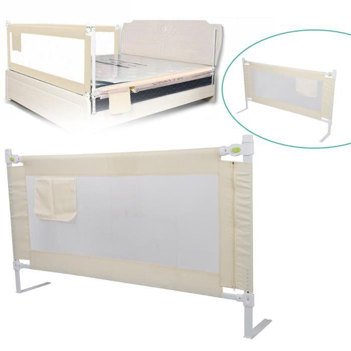 150*68cm Barrière de lit Bébé Universelle - Barrière de lit enfant portable