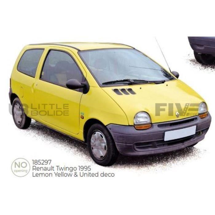 Voiture Miniature de Collection - NOREV 1/18 - RENAULT Twingo Benetton - 1996 - Yellow / United Color - 185297