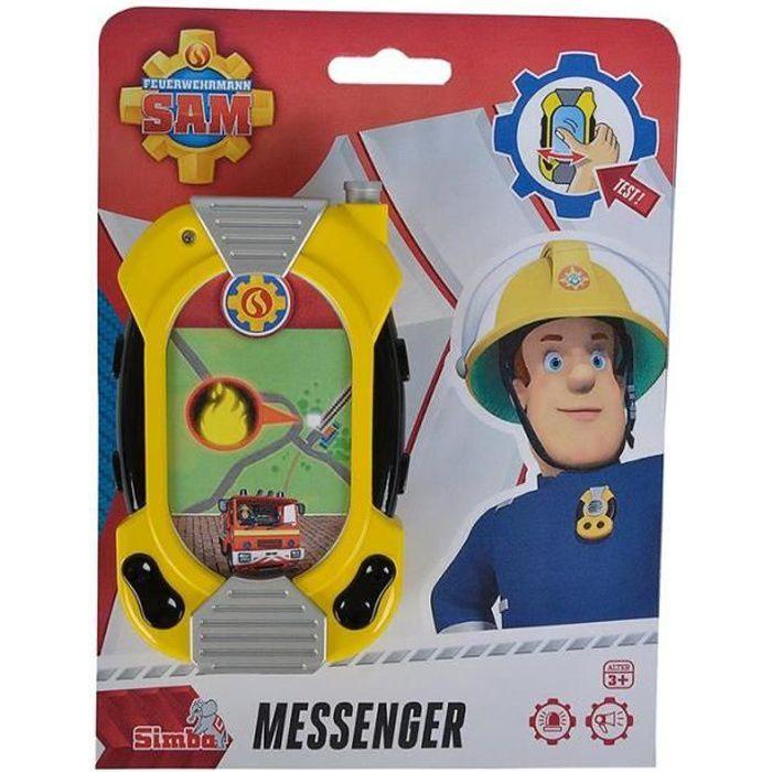 Simba Toys 109258697 Sam Le Pompier - Messenger téléphone avec lumière et son