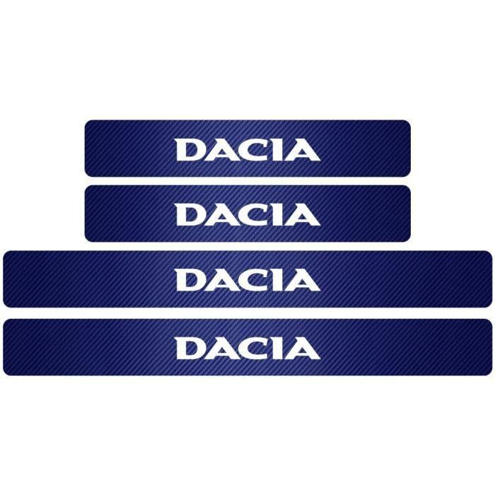 Plaque de protection en Fiber de carbone pour seuil de porte de voiture, autocollant pour Renault Dacia Duster Logan [69E3A58]