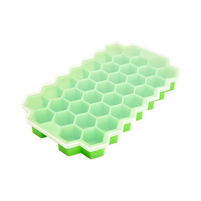 37Grid Silicone Ice Cube Tray Honeycomb Ice Tray Mold Maker pour le jus de whisky