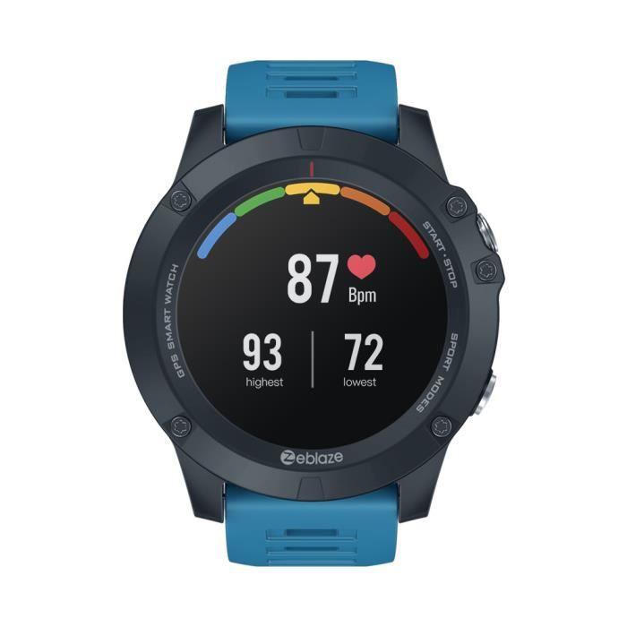 Blue Nouveau 2020 Zeblaze VIBE 3 GPS Smartwatch fréquence cardiaque Multi Sports Modes étanche / meilleure autonomie de la batterie