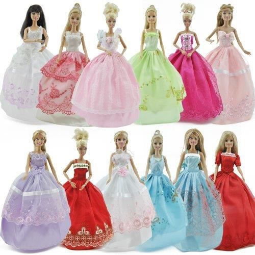 Lot 5 P 5x Fashion vêtements robes à la main cultive Outfit pour poupée Barbie vëtements barbie