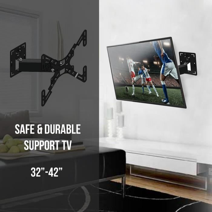 Support TV 32- à 42- Fixation ecran plat 81 107cm