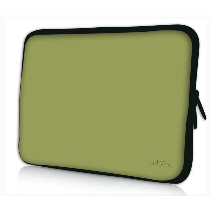 Luxburg 12 pouces Housse Sacoche Pochette pour ordinateur portable olive