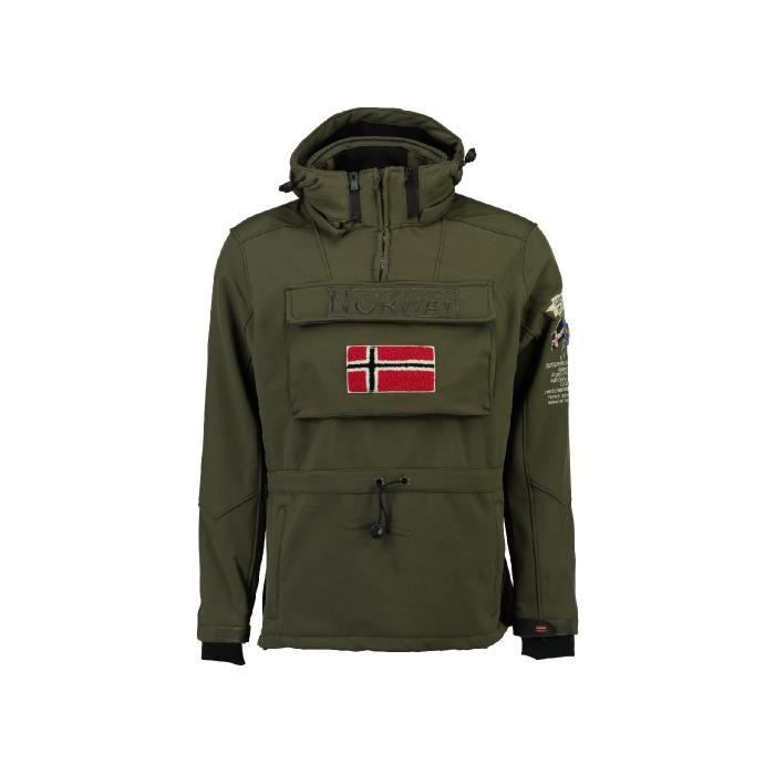 Softshell Homme Geographical Norway Terreaux Kaki