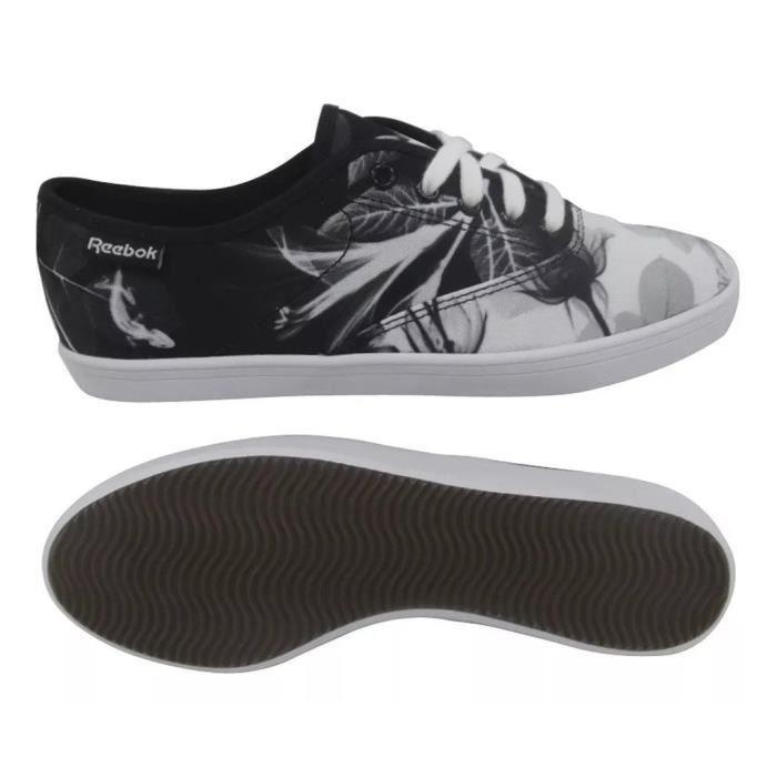 Reebok Chaussures pour Femmes ROYAL TENSTALL PRT Baskets Noires en toile Champion Sports