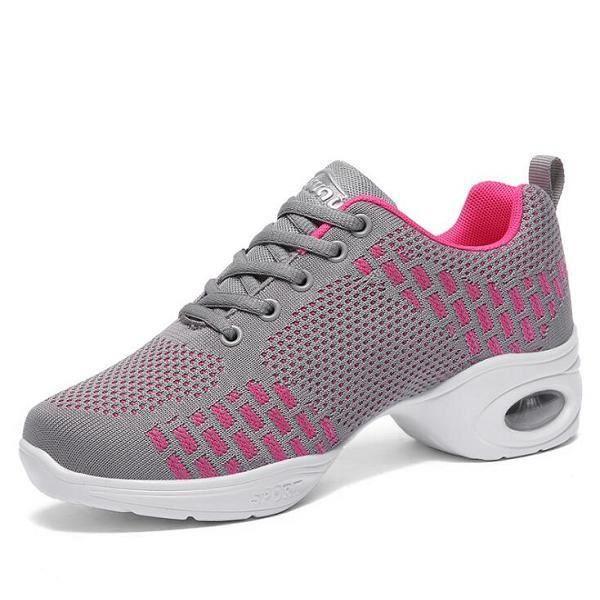 Chaussures de danse,2019 nouvelles femmes chaussures de danse Jazz Hip Hop chaussures Salsa baskets chaussures femme moderne plate