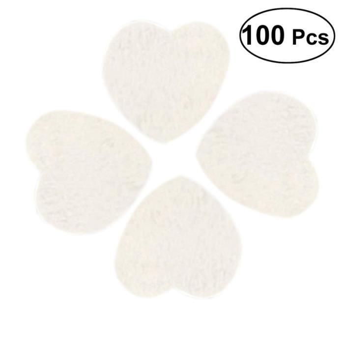 100 pièces en forme de coeur décor environnemental copeaux de bois naturel accessoire de mariage de pour artisanat bricolage