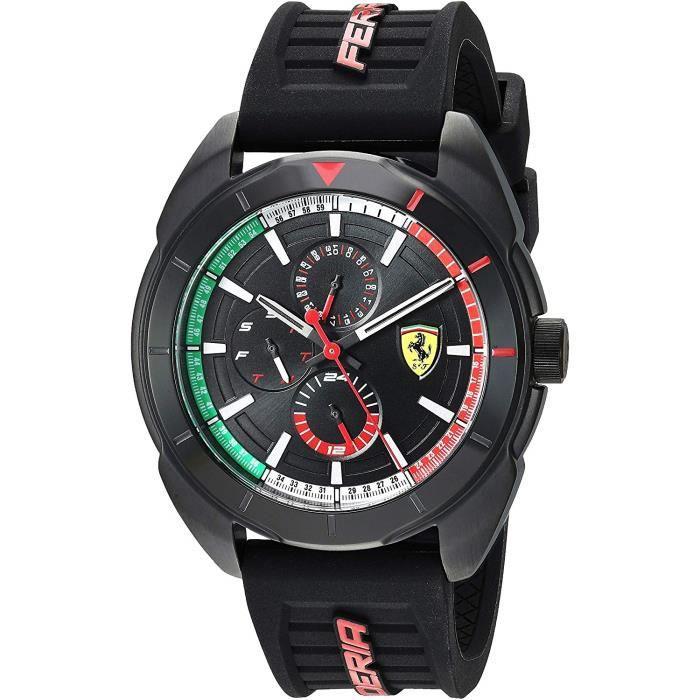 Scuderia Ferrari Hommes Multi-cadrans Quartz Montres bracelet avec bracelet en Silicone - 830577 4178