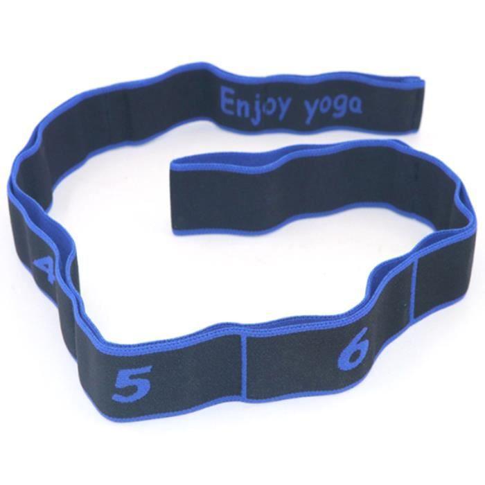 ÉLastique Sangle Extensible de Yoga Latex Groupe de Danse Latine Divisé ÉLongation Dureté Outil D'EntraîNement Physique Bleu