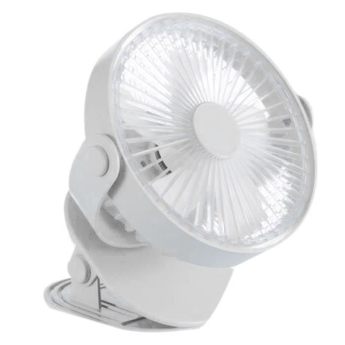 Blanc Grand Vent Accueil Clip Ventilateur 4000 MAh Grande Puissance ÉTudiant Dortoir Ventilateur Creative Bureau Bureau Ventilateur
