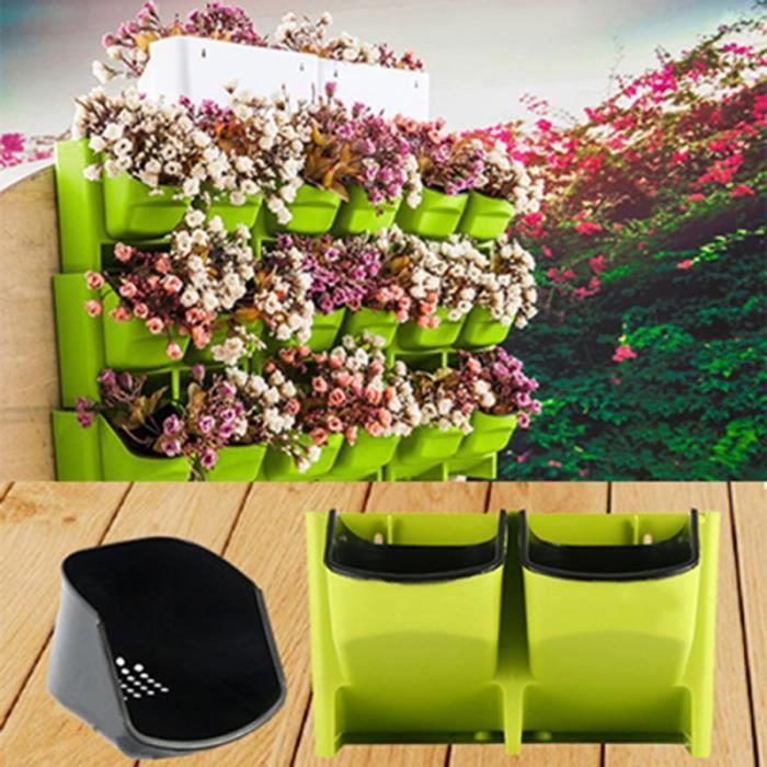 Creative Vertical Jardin Planteur Vivant Fond Mur Pot Montage Mural pour Intérieur Extérieur Salon Hall JARDINIERE - BAC A FLEUR