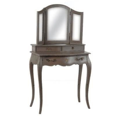 coiffeuse baroque taupe achat vente coiffeuse coiffeuse baroque taupe cdiscount. Black Bedroom Furniture Sets. Home Design Ideas