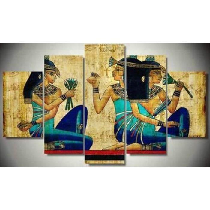 5 Pièces Egypte Antique Figure Sur La Tour De Pliage De