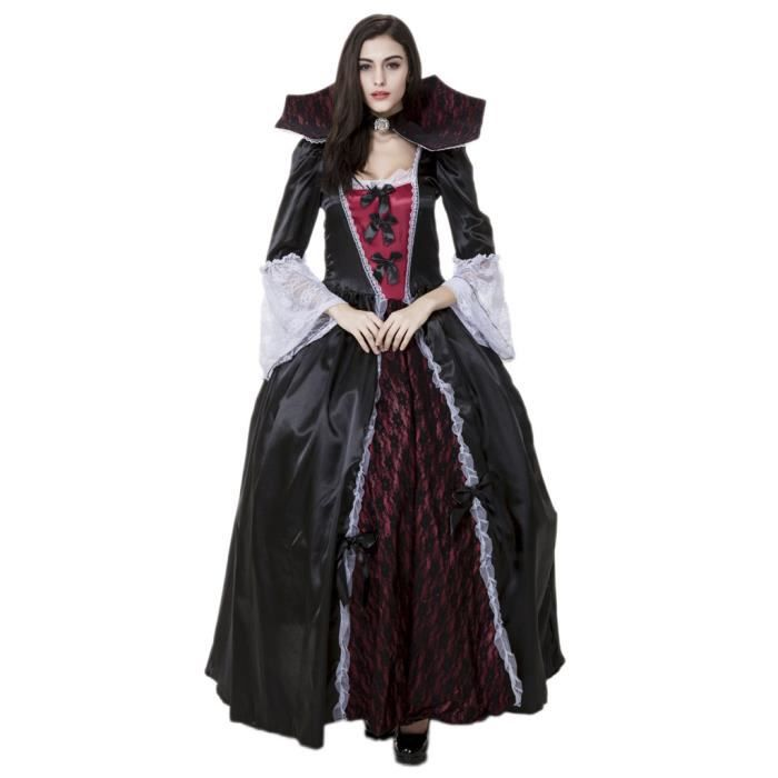 Smile Vampire Costumes Halloween D Guisement Femme Mascarade Cosplay Reine Robe Gothique Achat