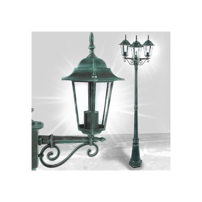 lampadaire de jardin 221 cm r tro clairage ext rieur 2401012 achat vente lampadaire de. Black Bedroom Furniture Sets. Home Design Ideas