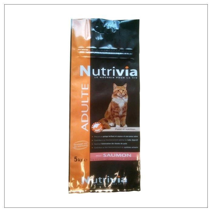 CROQUETTES Nutrivia - Croquettes au Saumon pour Chat Adulte -