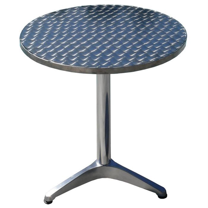 Table int rieur bistrot bistro en alu 60 x h70 cm achat for Table de bistrot pliante