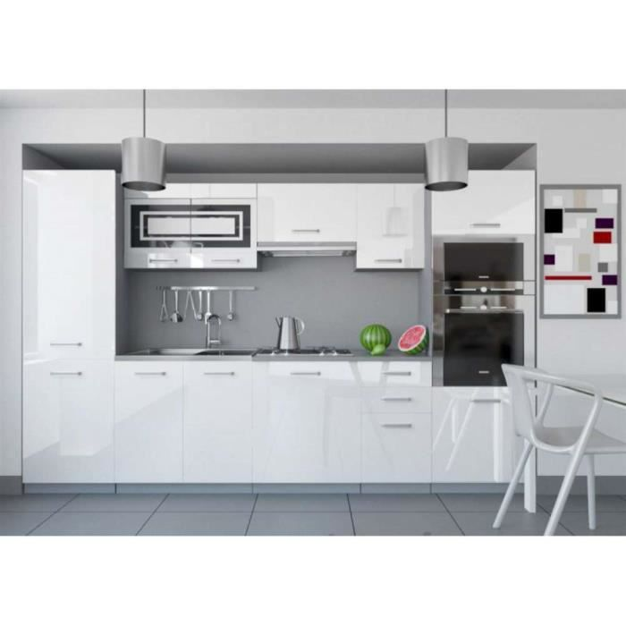 Justhome Infinity Cuisine Equipee Complete 300 Cm Couleur Blanc
