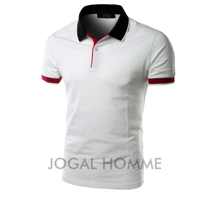 polo shirt homme col roul chemise manche courte blanc achat vente polo cadeaux de no l. Black Bedroom Furniture Sets. Home Design Ideas