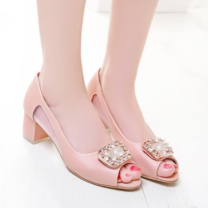 talons hauts-Pure Color faible talon talonpai...