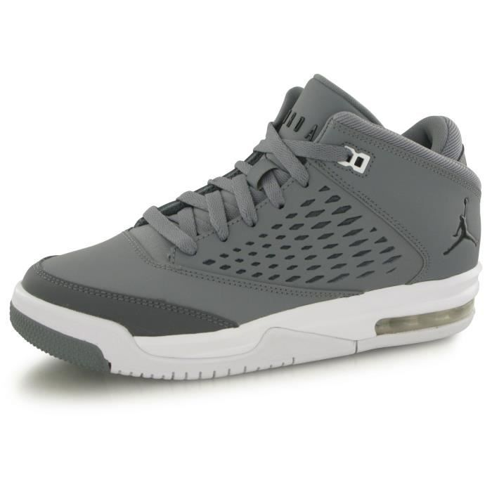 low priced e7e96 d7cde Nike Air Jordan Flight Origin 4 gris, chaussures de basketball enfant