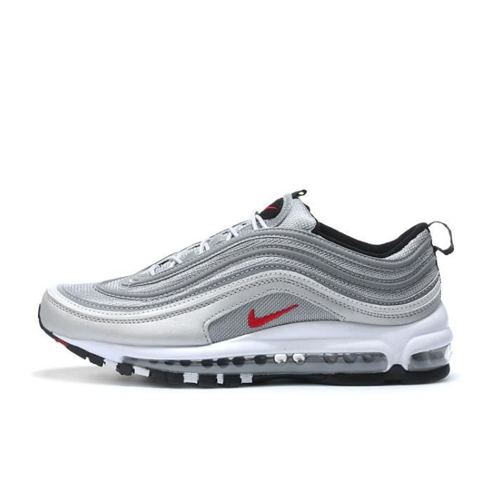 Nike Air Max 97 Baskets Chaussures de Running Argent - Prix ...