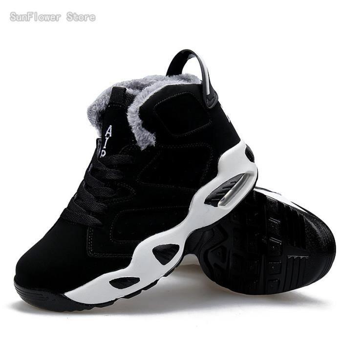Baskets Chaussure de Basketball pour Homme et Femme Coussin d'air Running Chaussures de Sport +fluff